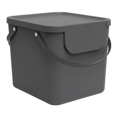 Pattumiera per raccolta differenziata Albula ROTHO manuale grigio antracite 40 L
