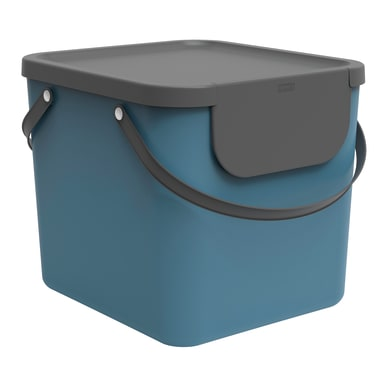 Pattumiera per raccolta differenziata Albula ROTHO manuale blu 40 L