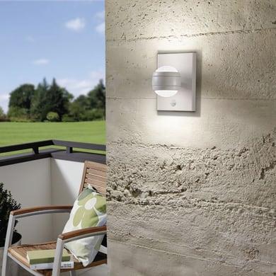 Applique Sesimba LED integrato  in acciaio inox, bianco, 3.7W 560LM IP44 EGLO