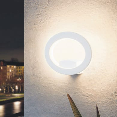 Applique Emollio LED integrato in alluminio, bianco, 10W 1000LM IP44