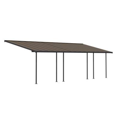 Pergola alluminio Capri bronzo L 295 cm x P 295 cm, H 3.05 m