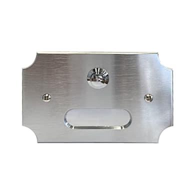 Pulsante per campanello con filo CAL 1 pulsante Interno/esterno grigio / argento