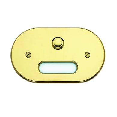 Pulsante per campanello con filo CAL 1 pulsante Interno/esterno giallo / dorato