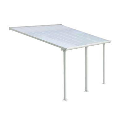 Pergola alluminio Olympia bianco L 295 cm x P 425 cm, H 3.05 m