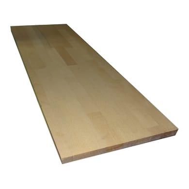 Tavola legno lamellare faggio 80 x 30 cm Sp 18 mm
