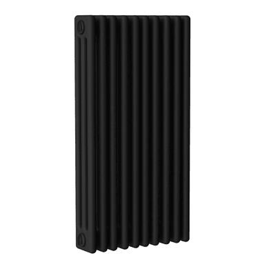 Radiatore acqua calda ERCOS nero opaco in acciaio 10 elementi interasse 81,3 cm