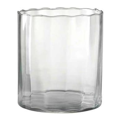Vaso in vetro H 10 cm Ø 10 cm