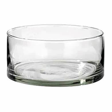Vaso in vetro L 12 x H 12 cm Ø 12 cm