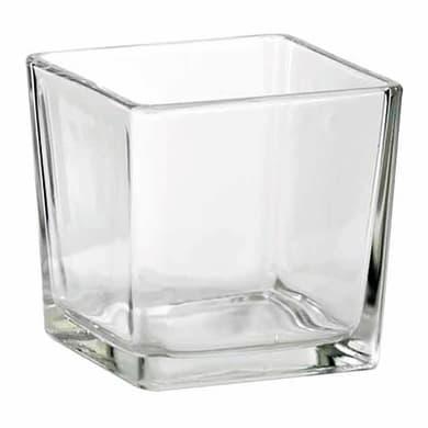 Vaso in vetro L 12 x H 50 cm