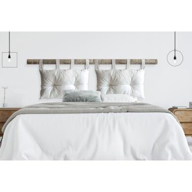 Cuscino testata letto PANAMA COTONE bianco 45x70 cm