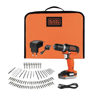 Trapano avvitatore a batteria BLACK + DECKER BDCDD12S1A-QW 12 V, 1.5 Ah, 1 batteria
