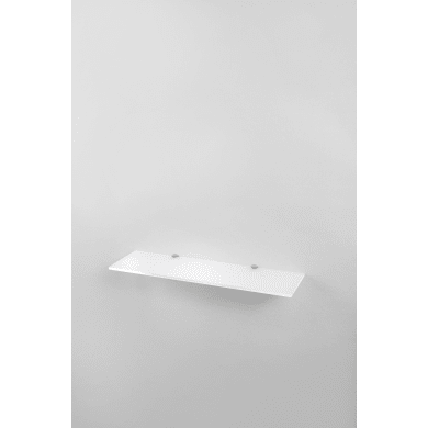 Mensola L 59.5 x P 16.5 cm, Sp 0.8 cm bianco