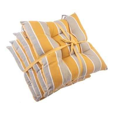 Cuscino per sedia Stripe curcuma e tortora 40x40 cm