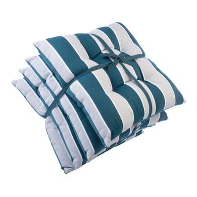 Cuscino per sedia Stripe petrolio e perla 40x40 cm