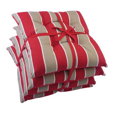 Cuscino per sedia Stripe rosso e tortora 40x40 cm