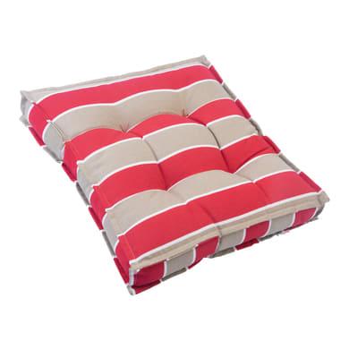 Cuscino Greta rosso e tortora 40x40 cm