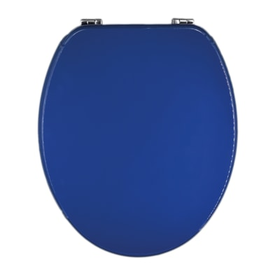 Copriwater ovale Universale Blu mdf blu mare
