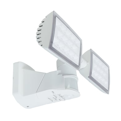 Applique Peri LED integrato in policarbonato, bianco, 32W 3280LM IP54 LUTEC