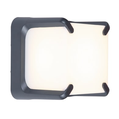 Applique Armor LED integrato in alluminio, grigio, 32W 560LM IP54 LUTEC