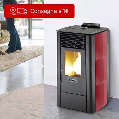 Stufa a pellet ventilata Rosada 103 10 kW rosso