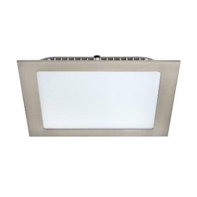 Faretto fisso da incasso quadrato Extraflat  in Alluminio nichel, 17x17cm LED integrato 20W 2100LM IP20 INSPIRE