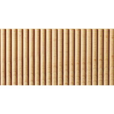 Asta rettangolare in faggio grezzo 1200 x 100 x 14 mm 2 pezzi