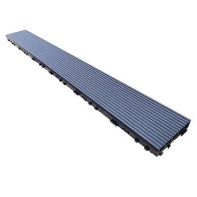 Listone da incastro in composito in legno e resina L 120 x H 15 cm, Sp 34 mm grigio