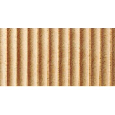 Asta rettangolare in faggio grezzo 2440 x 49 x 14 mm 2 pezzi
