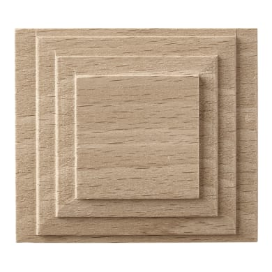 Fregio piramide in faggio grezzo 270 x 200 x 60 mm 10 pezzi
