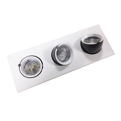 Faretto fisso da incasso orientabile rettangolo 0TBEXB-S3X12W bianco, LED integrato 10W 1800LM IP20
