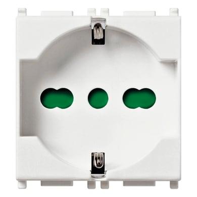 Kit Presa universale VIMAR Plana antibatterico 16 A bianco