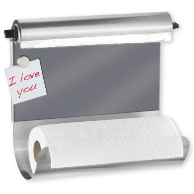 Porta rotolo carta assorbente tasselli WENKO in acciaio