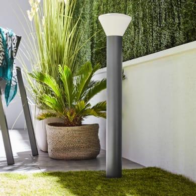 Lampione Milda H80 cm in acciaio inossidabile, antracite, E27 MAX 25W IP44 INSPIRE