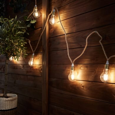 Ghirlanda Minta 10 lampadine 5 m IP44 INSPIRE