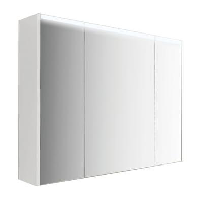 Specchio con più mensole Top L 92 x P 15 x H 67 cm bianco lucido