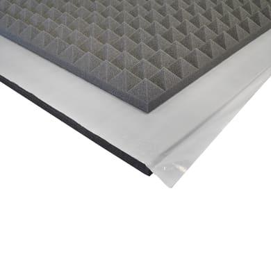 Pannello fonoassorbente adesivo piramidale 1 x 1 m, Sp 50 mm