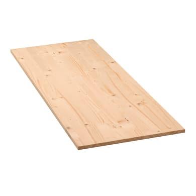 Tavola legno lamellare abete L 200 x H 20 cm Sp 14 mm