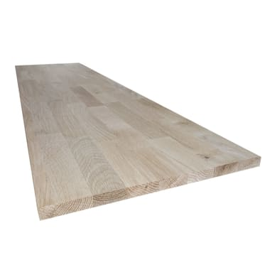 Tavola legno lamellare rovere L 50 x H 150 cm Sp 18 mm
