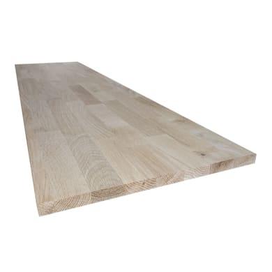 Tavola legno lamellare rovere L 50 x H 200 cm Sp 18 mm