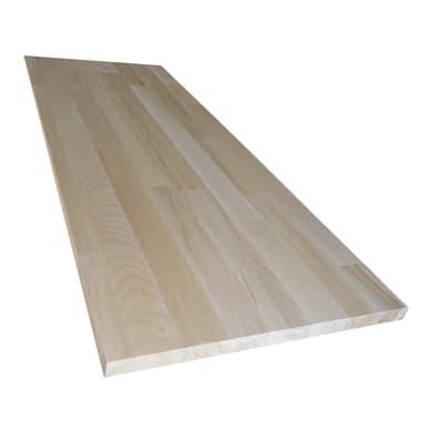 Tavola legno lamellare faggio L 60 x H 250 cm Sp 30 mm