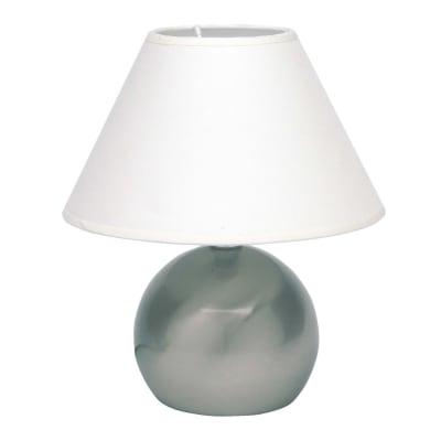 Lampada da tavolo Tarifa grigio , in metallo, BRILLIANT