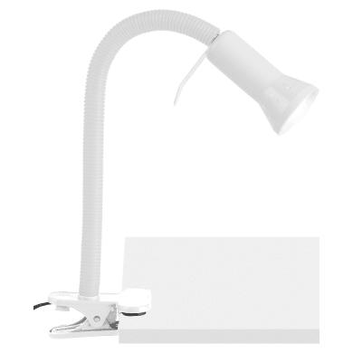 Lampada da scrivania Flex KLA-Flex bianco, in plastica, E14 MAX40W IP20 BRILLIANT