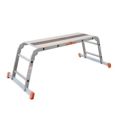 Scala snodata multifunzione FACAL Pedana pieghevole alfa in alluminio per lavori fino a 2.59 m