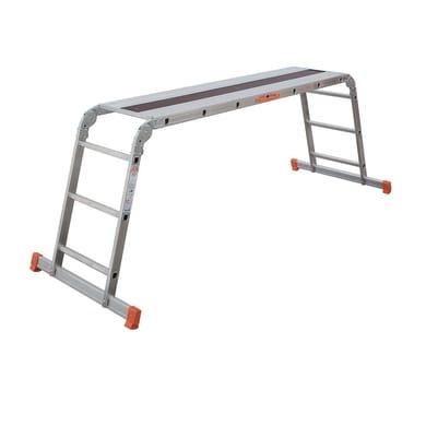 Scala snodata multifunzione FACAL Pedana Alfa in alluminio per lavori fino a 2.8 m