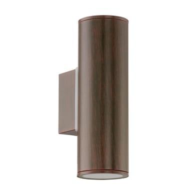 Applique Riga  in acciaio galvanizzato, moro anticato, 6W 200LM IP44 EGLO