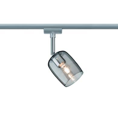 Binario Blossom in metallo grigio LED