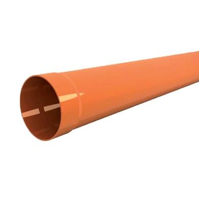 Tubo per evacuazione acqua arancio in pvc Ø 125 mm L 1 m