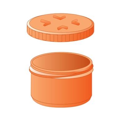 Tappo di ispezione arancione in PVC Ø125 mm