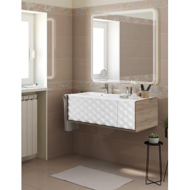 Set mobile da bagno con lavabo Neo3 bianco e nero L 120 cm