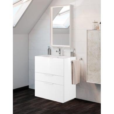 Set mobile da bagno con lavabo Neo3 bianco L 60 cm